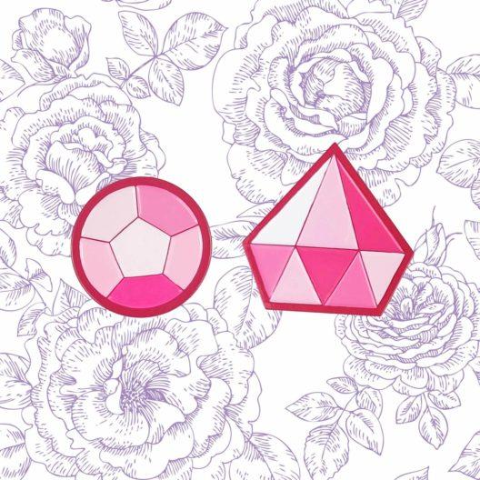 Steven Universe Rose Quartz Pin Set Pink Diamond